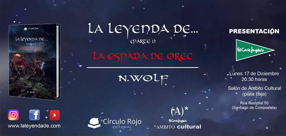 Presentación de la novela «La Leyenda de…» en el centro comercial del Corte Inglés de Santiago de Compostela